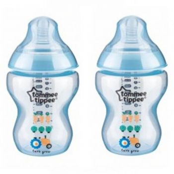 Tommee Tippee Blue Pack2 Close To Nature Tinted Bottle 260ML (TT 422580)