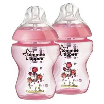 Tommee Tippee Pink Pack2 Close To Nature Tinted Bottle 260ML (TT 422581)