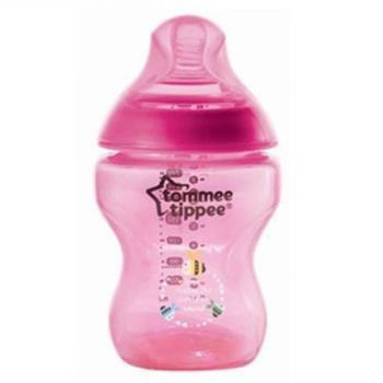 Tommee Tippee Closer To Nature 260ML PP Tinted Bottle Clear Pink (TT 422802)