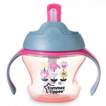 Tommee Tippee Training Straw Cup Pink (TT 447005)