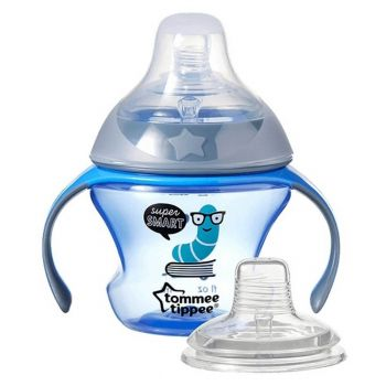 Tommee Tippee Transition Cup Pink Nipple + Spout 150ML (TT 447085)