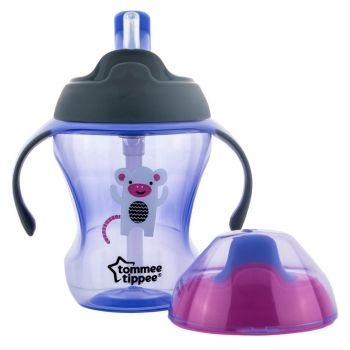 Tommee Tippee Stage 2 Easy Drink Cup 230ML Purple (TT 447143)