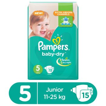 Pampers Value Pack Baby 15 Diapers Junior
