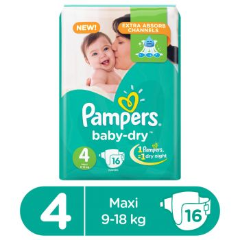 Pampers Value Pack Baby 16 Diapers Large Butterfly
