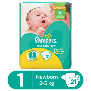 Pampers Value Pack S1 New Born 21 Diapers