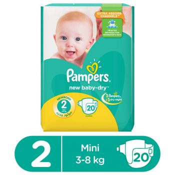 Pampers Value Pack Baby 20 Diapers Small Butterfly