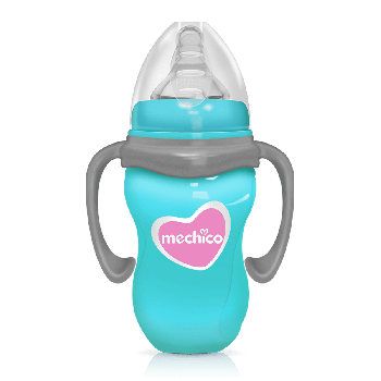 Mechico Wide Neck BPA Free Color Feeding Bottle 270ML/9oz - Blue